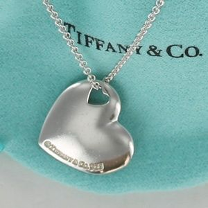 Tiffany Stencil Puff Heart Cut Out Necklace